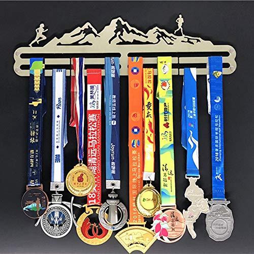 ZHXY Medaillen Halter medaillenhalter medaillen aufhänger Display-Rack,Läufer Pokale Halter,Auszeichnungen Inhaber,Runner Medals Hanger Stainless Steel Holder 24 MEDAILLEN Marathon Leichtathletik