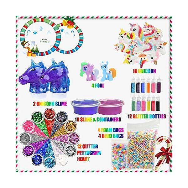 Unicorn Slime Kit - Slime Supplies Slime Making Kit for Girls Boys, Kids Art Craft, Crystal Clear Slime, Glitter… 4