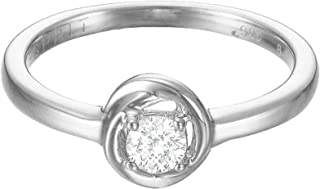 Esprit Essential Women's Ring TWIST-It 925 Silver Rhodium-Plated Cubic Zirconia Crystal-ESRG92759A1 silver
