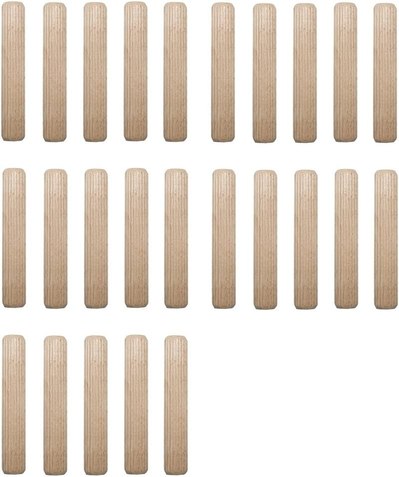 0030 Holzd/übel Riffeld/übel Holzverbinder FSC/® 16x160mm 5 St/ück