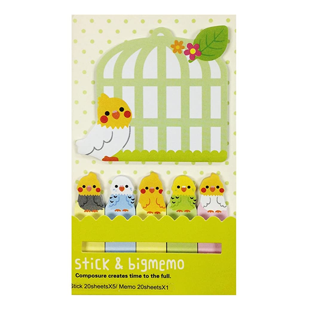 Wrapables Bookmark and Memo Sticky Notes, Tweeting Birdies
