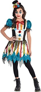 Girls Creepy Clown Costume Set, Large (12-14)- 2 pcs.