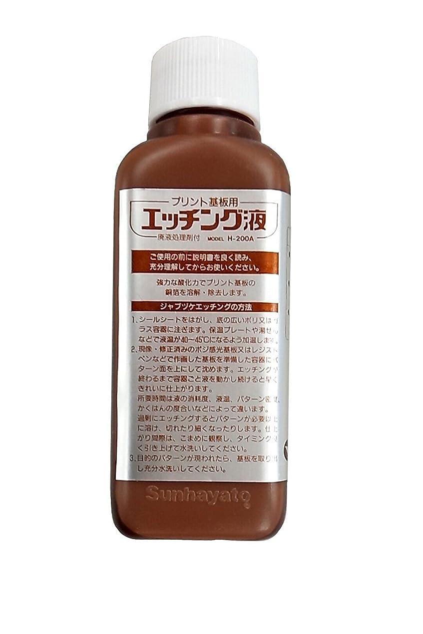 暗くする鈍い常にサンハヤト エッチング液 200ml H-200A