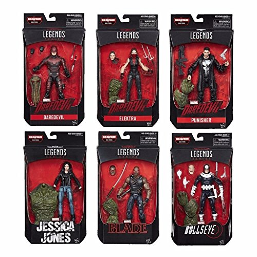 """Marvel Knights Legends Series Set of 6 Netflix Man-Thing 6"""" Inch Action Figure image"""