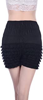 Women Sexy Ruffled Lace Panties Sissy Pettipant Dance Bloomers Frilly Shorts