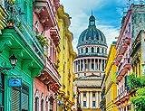 LHUTY Pintura por Números Arquitectura cubana lienzo Pintura al óleo y dibujo Pintura con pinceles para adultos principiantes Pintura al óleo 16x20 pulgadas sin marco