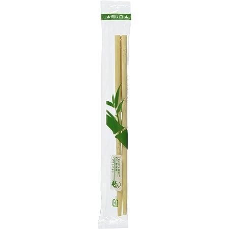 竹製箸 ポリ完封 竹角丸(最初から割れているタイプ) 楊枝入り 16.5cm 100膳 PK-017