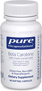Pure Encapsulations - Beta Carotene with Mixed Carotenoids - Hypoallergenic Antioxidant and Vitamin A Precursor Supplement - 90 Softgel Capsules