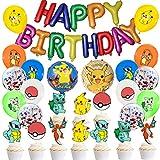 Cumpleaños de, 39 Piezas Team Cartoon Anime Theme Globo Artículos para Fiesta de Cumpleaños