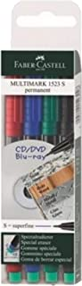 Faber Castell Multimark 1523 S CD Marker 0.4mm Pack of 4 assorted colors