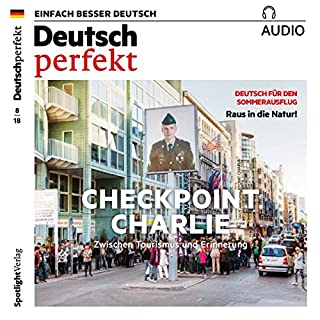 Deutsch perfekt Audio. 8/2018 audiobook cover art