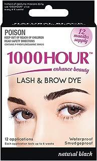 1000 Hour Eyelash & Brow Dye/Tint Kit Permanent Mascara (Black)