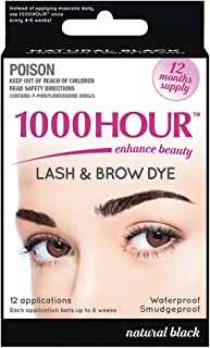 1000 Hour Eyelash & Brow Dye/Tint Kit Permanent Mascara (Black)