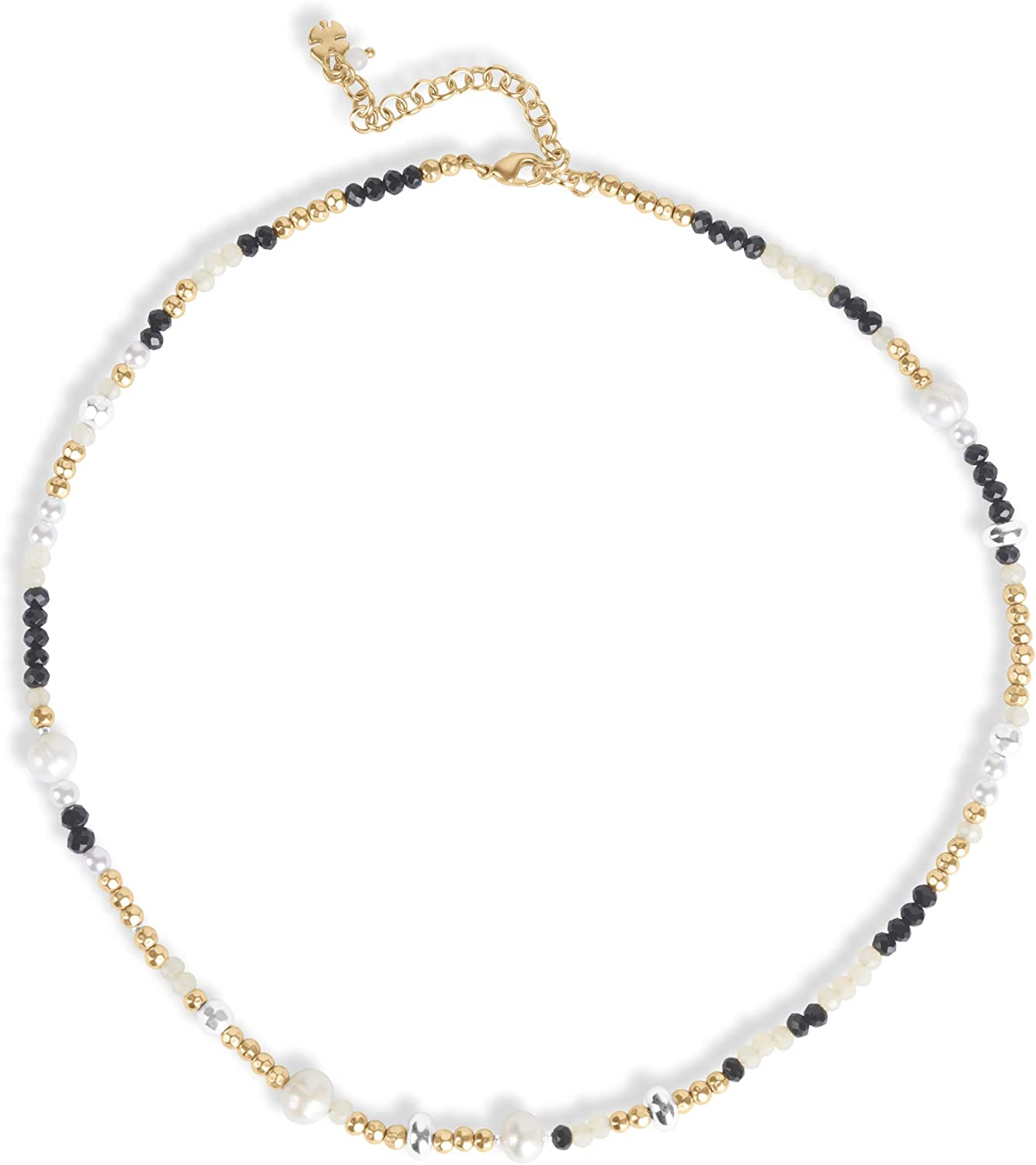 Lucky Brand Pearl Multi Bead Collar Necklace, Gold