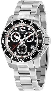 Longines HydroConquest 計時碼黑色表盤男式手表 L37434566