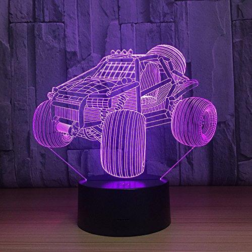 Mountainbike 3D lamp optische illusie 3D kinderen nachtlampje 7 kleuren veranderende baby kinderkamer nachtlampje voor kinderkamer Home Decor