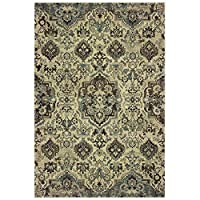 Sphinx Raleigh Area Rug 8027J Ivory Mirrored Repeat 2ft 3 inch x 7ft 6 inch Rectangle 商品カテゴリー: ラグ カーペット [並行輸入品]