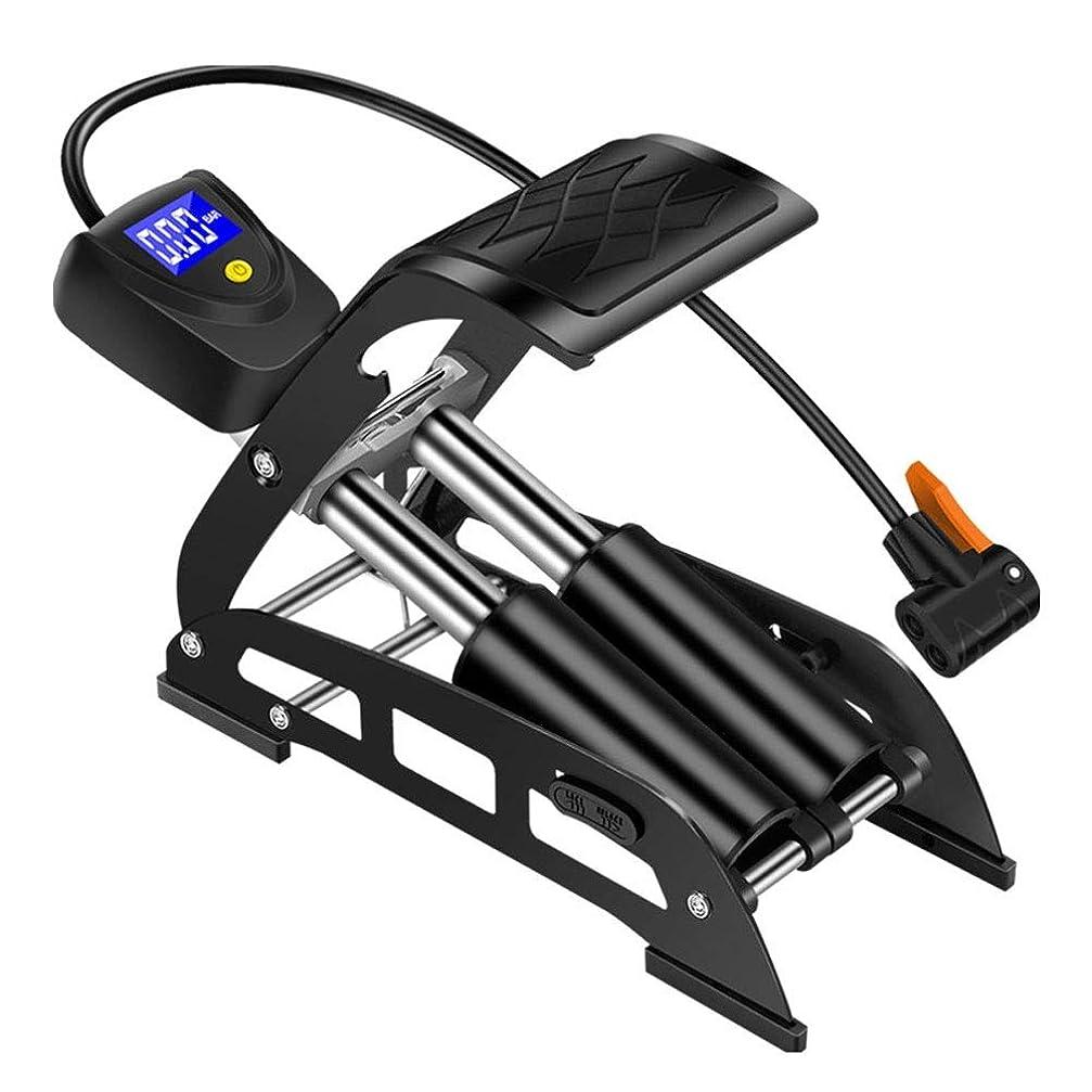 ロボット記念法的車、オートバイおよび自転車および他のInflatables-Footポンプ、頑丈な携帯用デジタル表示装置二重シリンダー空気ポンプのための普遍的なポンプ