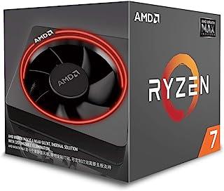 AMD YD2700BBAFMAX Ryzen 7 2700 8コア20 MBキャッシュ65 W CPU、Wraith Max RGB付きクーラー - ブラック