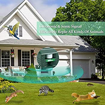 YCGJ Ultrasonique extérieur insectifuge, Haute Puissance ultrasonique répulsif électronique Alarme sonore Intelligent électronique Rongeur