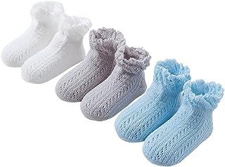 Black Temptation, 3 pares unisex del bebé Calcetines, 2-4 años de edad del bebé del algodón Calcetines #01