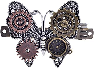 EH-LIFE Women Ladies Fashion Jewelry Steampunk Gear Alloy Butterfly Hair Clips