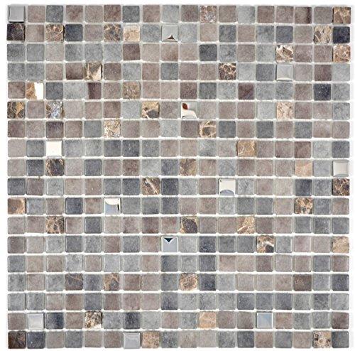 Mozaïek tegel doorschijnend steen basalt BASALTO voor wand badkamer toilet douche keuken tegelspiegel THEkenverkleeding badkuip mozaïekmat mozaïekplaat