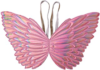Ohnanana Butterfly Fairy Wings for Girls, for Kids Tinkerbell Birthday Party Favors Halloween Costumes Dress Up and More (Butterfly, HOT Pink)