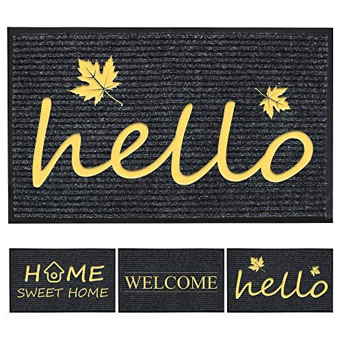 Airsnigi Door Mat,Outdoor Indoor Doormat with Rubber Backing,Non-Slip Welcome Doormat,Outdoor Entrance Doormat,Striped Door Floor Mat,Entryway Rug,30