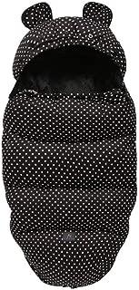 AYAY-es Winter Sleeping Bags Envelope Newborn Baby Stroller Pad Sleepsack Hooded with Cute Ear Thick Warm Infant Footmuff Wheelchair