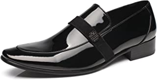 Oxford Shoes for Men Patent Leather Tuxedo Moc Toe Slip-on Loafer Mens Dress Shoes Zapatos de Hombre Lace Up Comfortable Classic Modern Formal Business Shoes