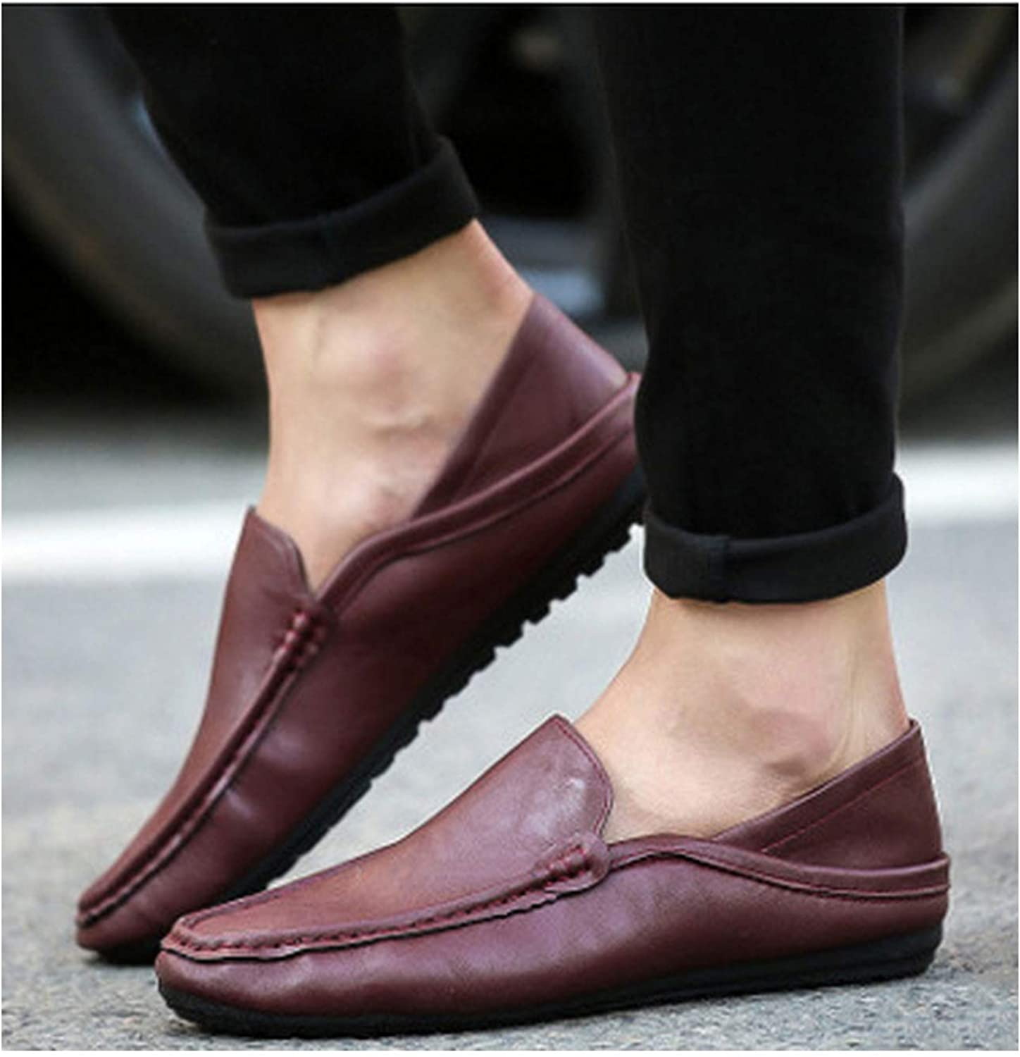 Pleasantlyday Men shoes Canvas Loafer shoes Boat shoes Peas shoes Slip On Flats Walk Drive Moccasins Breathable