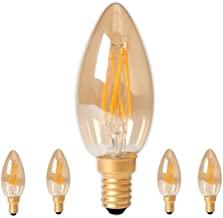 Dimmable Calex LED Gold Glass Filament Tubular-Type lamp 4W 320lm E27 T45x110