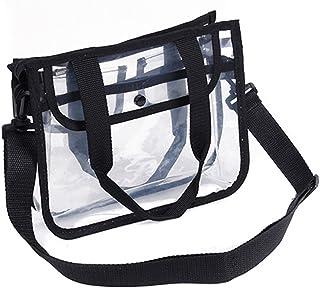 OUNONA - Bolso de mano impermeable transparente de PVC con bolso para el hombro