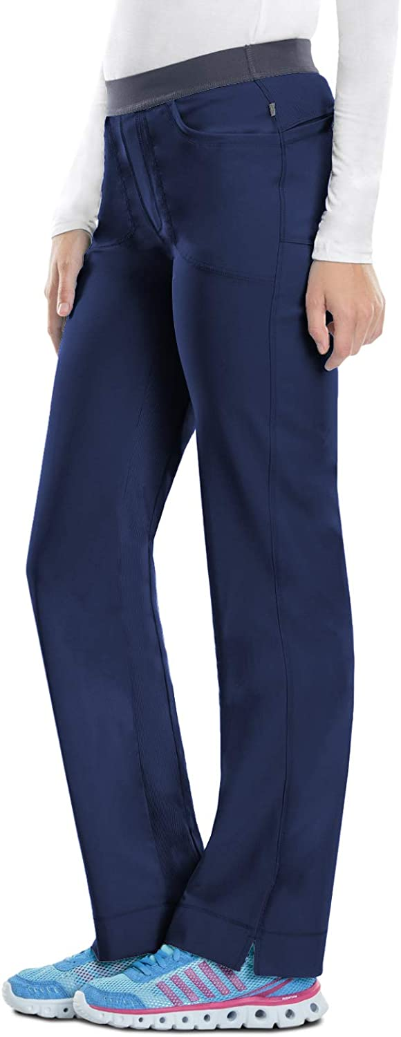 Cherokee Women's Size Infinity Low-Rise Slim Pull-on Pant, Navy,