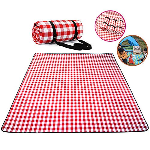 Find Bargain SHKY Machine Washable Extra Large Picnic & Beach Blanket Handy Mat Plus Thick Sandproof...