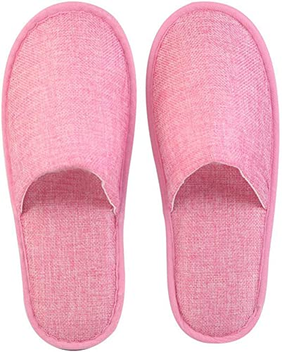 ZPPLD Einweg-geschlossene Toe Toe Toe Spa Slippers Linen Fabric Thickening Non-Slip Slippers,Rosa,100pair  gute Qualität