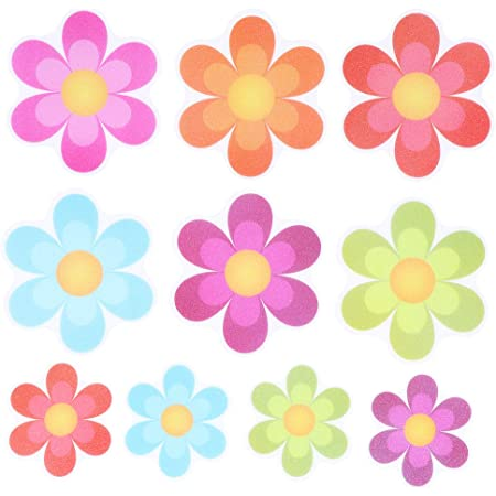 10//20Pcs Flower Shape Non-Slip Safety Shower New PEVA Non Slip Stickers CS