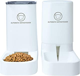 XingCheng-Sport Pets Automatic Feeder Set,Cats Dogs Water Dispenser and Food Feeder,Gravity Feeder for Small Animals (Food...