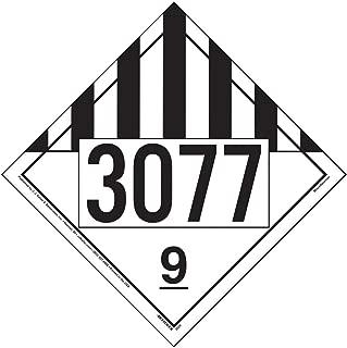 3077 Placard, Class 9 Miscellaneous 25-pk. - 10.75