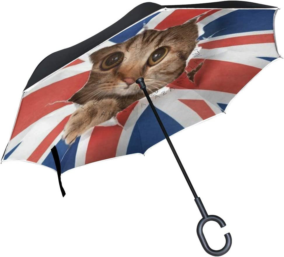 SLHFPX Reverse Umbrella Baby store Windproof excellence Inverted Cheetah