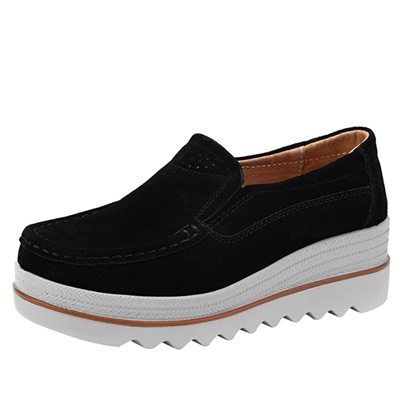 Women Flats Sneakers, Limsea 2019 New Leather Casual Shoes Muffin Shoes Sneakers