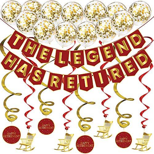 """Sterling James Co. """"Die Legende geht in Rente"""" Pensionierung Dekorationsset – Rentenfeier Zubehör, Geschenke und Dekorationen"""