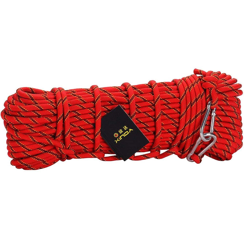 草ある士気専門のロッククライミングロープ屋外ハイキングアクセサリー10mm 直径3KN 高強度コード安全ロープ,10mmred,40M