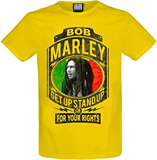 Amplified Clothing Bob Marley 'Fight for Your Rights' (Yellow) T-Shirt