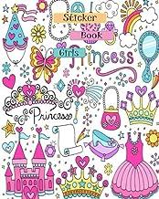 Sticker Book Girls: Blank Sticker Book Journal 8x10 120 pages (Volume 17)