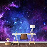 SIGNFORD Wall Mural Galaxy Removable Wallpaper Wall Sticker for Bedroom Living Room - 100x144 inches