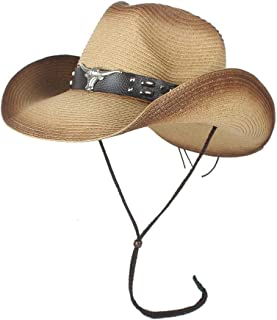 Sun Hat for men and women Summer Western Cowboy Hat Men Summer Straw Cowgirl Party Costume Crimping Western Hat Sombrero Hombre Cowboy Hats Panama Hat