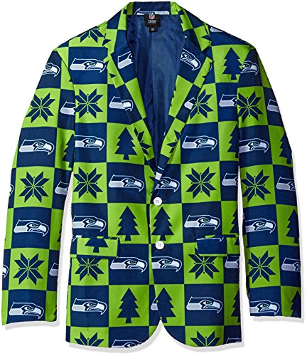 FOCO Seattle Seahawks Aufnäher Ugly Business Jacke – Herren Größe 42