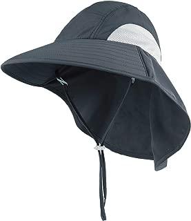 Connectyle Kids Large Brim UV Protection Sun Hat with Neck Flap Mesh Fishing Cap